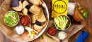 Taco Board, Guac & Salasa & Bloody Mary